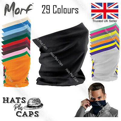 3 in 1 Face Cover Beechfield Morf Original Snood Scarf Neck Warm Breathable Mask