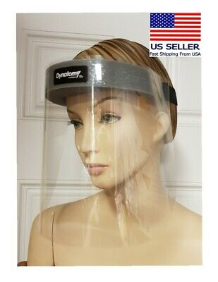 2 pics Safety Full Face Shield Clear Protector , Anti-Fog- Made in USA.