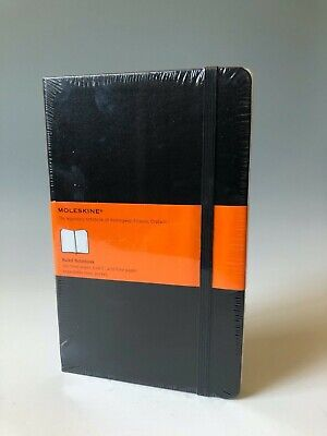 "Moleskine Classic Notebook Large 5 x 8 1/4"" Ruled Black Hard Cover 240 pages"