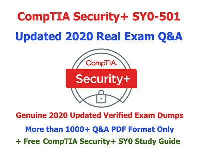 CompTIA Security+ SY0-501 Q&A Real Exam Dump 2020 Updated + Free Study Guide PDF