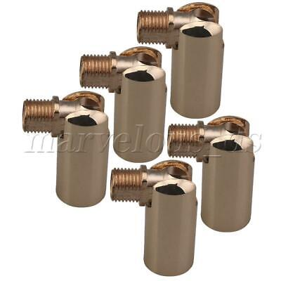 5pcs Universal Joint Iron Wall Lamp Fixture 180 Degree Steering French Gold