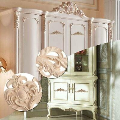Unpainted Frame Decal Home Furniture Durable Wood Carved Applique Onlay Cor M1E0