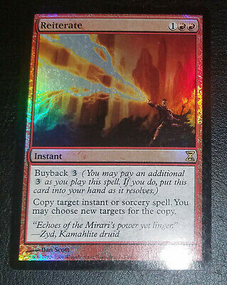 REITERATE Time Spiral MTG Red Instant RARE