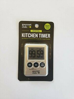 Gourmet Club: Digital KITCHEN TIMER with Magnetic & Built in Stand
