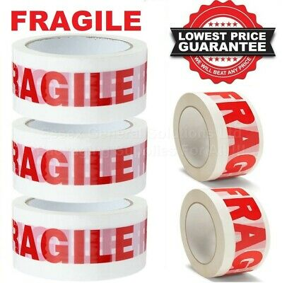 FRAGILE PRINTED STRONG PARCEL TAPE PACKING MULTILISTING 48MM x 66M 6 12 24 36 72