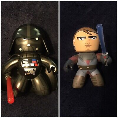 Star Wars MIGHTY MUGGS Action Figures DARTH VADER LUKE CHEWBACCA LEIA REY 2017