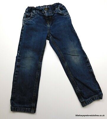 3-4 years boys Nutmeg blue jeans denim trousers straight