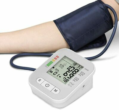 Automatic Digital Upper Arm Blood Pressure Monitor LCD Screen Heart Rate Beat