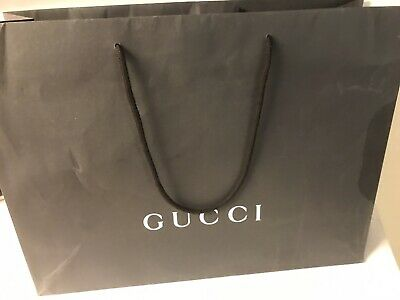 GUCCI Gift Carrier Retail Shopping Paper Bag Black 48 X 36 X 13.5 CM