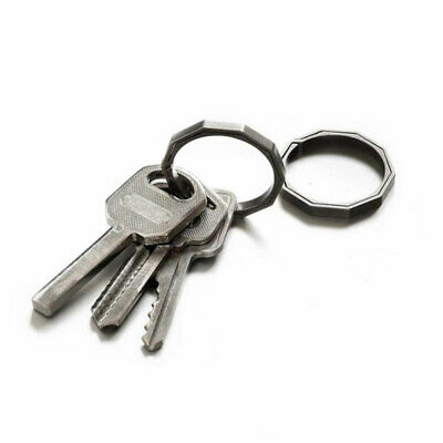 Titanium Alloy Outdoor Hanging Buckle Hook Keychain EDC Ring Quickdraw Key M0S6