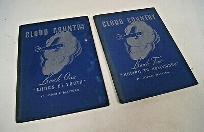 Vintage 1936 - 2 HC CLOUD COUNTRY Books by Jimmie Mattern / Pure Oil Premium