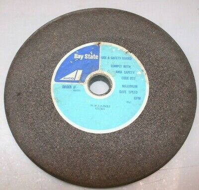 """12"""" x 7/8"""" x 1 1/4"""" Surface Grinding Wheel Bay State 444059 3A36L8BX2L7  SP534"""