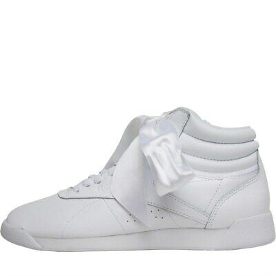 REEBOK CLASSICS FREESTYLE Hi Satin Bow Trainers High