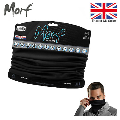 3 in 1 Face Cover Scarf Beechfield Morf Original Snood Neck Warm Breathable Mask
