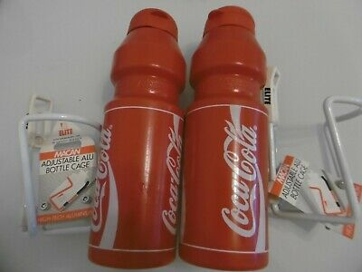 New Elite Corsa Coca Cola Cycling Water Bottle 550 ml White Red