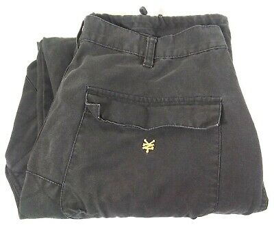 Zoo York Men's Black Denim Jeans Size 36 x 33 Zipper Pockets