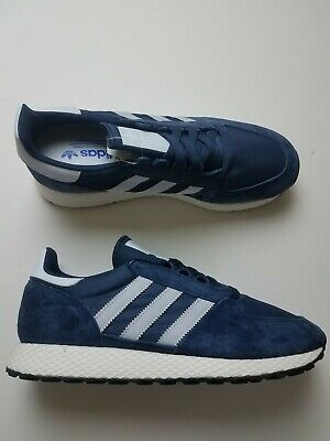 ADIDAS JEANS COLLEGIATE Navy Blue Leather Sneakers US 6.5