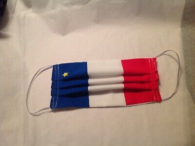 Handmade in USA Adult Face Cover Reusable Washable Nova Scotia Acadian Flag