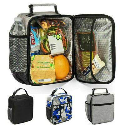Adult Kid Insulated Lunch Bag Coolbag Work Picnic Food School Storage Lunchbox