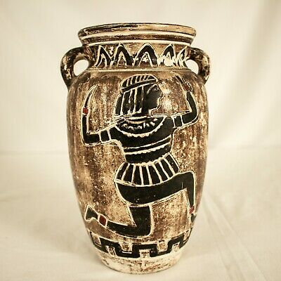ANTIQUE Ancient Greek Apulian Pottery Pitcher and Handmade and Hand painted