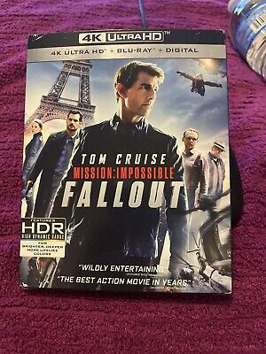 Mission: Impossible - Fallout [4K UHD Blu-ray 3 Disc Set] new slip cover