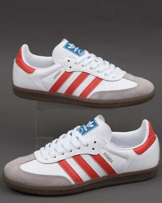 ADIDAS SAMBA OG WhiteTrace Scarlet Mens Trainers UK 10