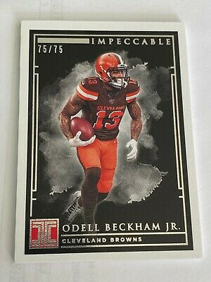 2019 Panini Impeccable Odell Beckham Jr. #75/75. Cleveland Browns