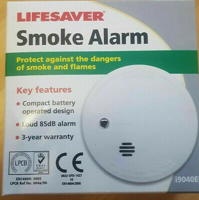 Two Pack UltraFire UBS1 Optical Smoke Alarm With 9 Volt Replaceable Battery