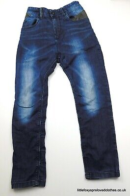 9 years boys NEXT blue jeans stylish denim trousers steamed