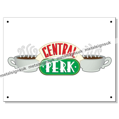 Friends Metal Wall Sign Central PerkOFFICIAL
