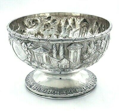 LANDSCAPE Coin Silver BOWL Crested Unmarked
