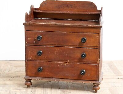 Antique 19th Century Victorian Painted Scumbled Chest of Drawers Original Paint