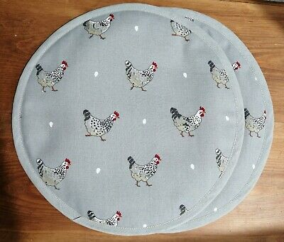 Pair of Aga//Hob Covers Purrfect Cats Fabric Sophie Allport with Loop Free P/&P