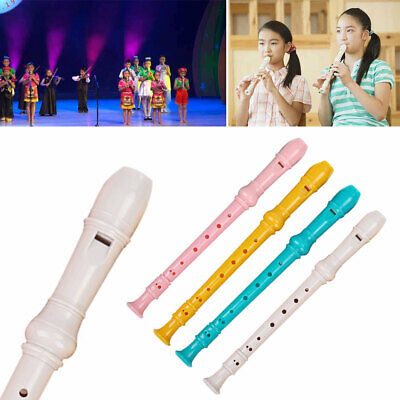 8-hole Descant Soprano Recorder Instrument with Cleaning Rod Colorful Music