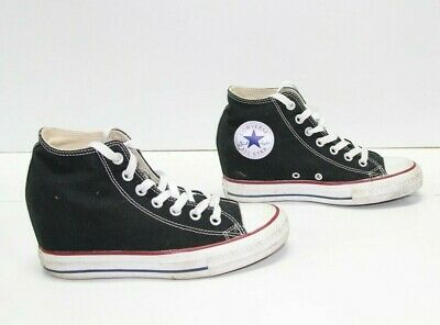 CONVERSE ALL STAR Nere Alte EUR 38.5 UK 5.5 US 7.5 usate