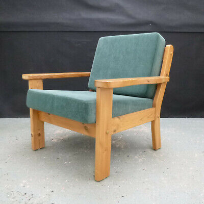 MID CENTURY RETRO Vintage Danish Teak Lounge Arm Chair 1960s