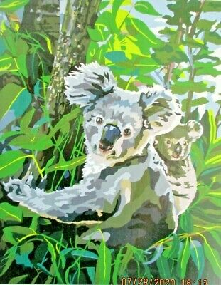 "Painting by Numbers Kit by Plaid  ""KOALA BEAR"" UK seller"