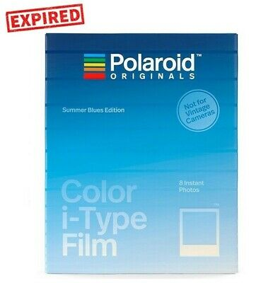 EXPIRED - Polaroid Originals Summer Blues Color i-TYPE OneStep2 Instant Film US