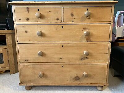 Chest of Drawers Victorian Pine Antique Vintage