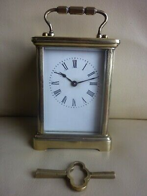 Brass French  antique mantel carriage clock