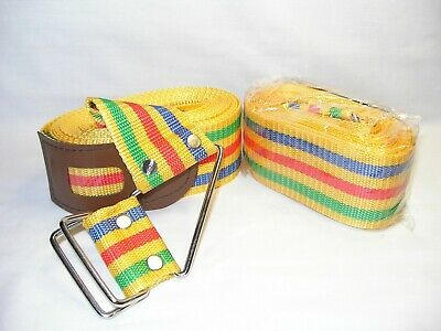 Travel Luggage Suitcase Strap Rainbow Color Belt for Baggage or Backpack (3 pcs)