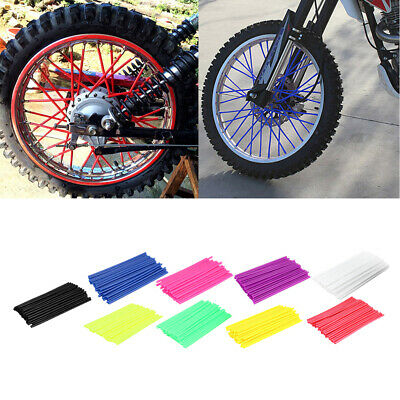 EG/_ 36Pcs Motorcycle Bike Wheel Spoke Wraps Rims Skin Cover Protector Decor Grac