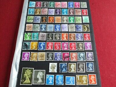 Lot of 75 Used GB Machin Stamps (1/2p - £3.00)