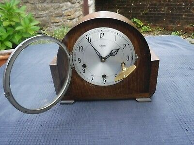Vintage Smiths Enfield Westminster Chimes Mantle Clock  Working with Key