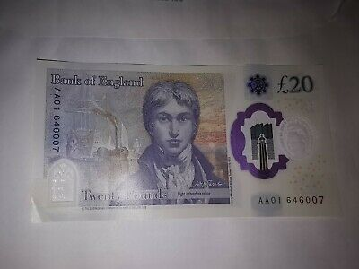 New 20 note Aa01 not sure if worth something