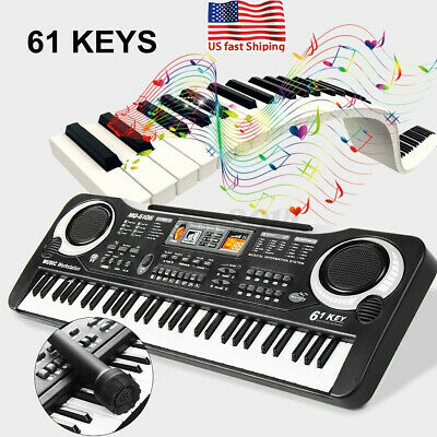 61 Key Music Electronic Keyboard Electric For Kids Toy Piano Organ w/ Microphone