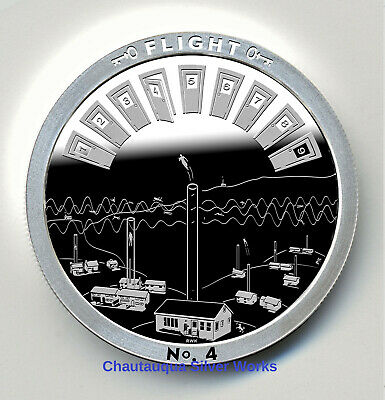 JOURNEY 1 OZ PROOF LIKE ROUND//CHAUTAUQUA SILVER WORKS//THROUGH THAT DOOR SERIES