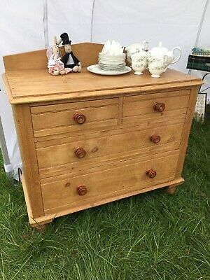 antique victorian pine chest of drawers 2 Over 2 Chest.
