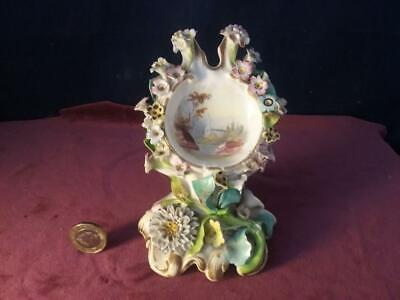 Antique Porcelain Hand painted  Flower Encrusted / Applied , Derby, Minton