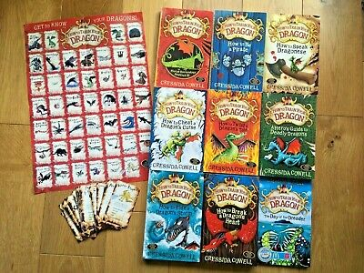 How to train your dragon books 1 - 8 and The Day of the Dreader